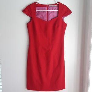 Andrew Marc Elegant Red Midi Dress